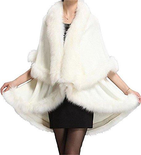 de 2018 Blanco Jersey de nocturna FOLOBE fiesta abrigo sint¨¦tica Abrigo invierno Abrigo piel de para c¨¢lido 6HFwFOtq