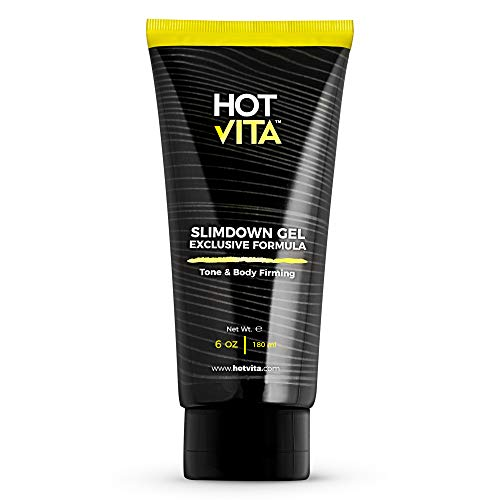 Hot Vita Slimdown Gel - Slimming Body Cream - Skin Care Product for Women - Increases Circulation with Caffeine, Ginseng Extract, Guarana Seed, Aloe Vera