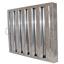 """Component Hardware FR51-1620 Flame Gard?Type VI Stainless Steel Baffle Grease Filter - 16"""" H x 20"""" W by Component Hardware"""