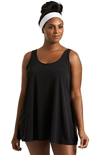 Timothy Snell Plus Size Scoop Neck Shaye Tank Top in Black for Always For Me