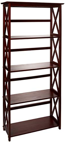 Casual Home Montego 5-Shelf Bookcase-Walnut by Casual Home