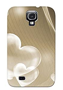 Appearance Snap-on Case Designed For Galaxy S4- Translucent Hearts(best Gifts For Lovers)