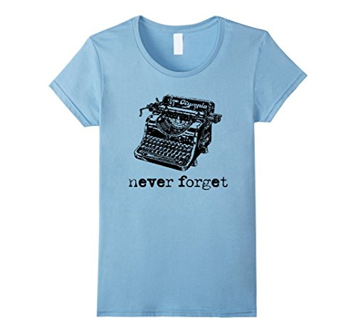 Womens NEVER FORGET Classic Typewriters - Vintage Graphic...