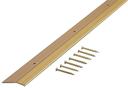 M-D Building Products 72074 Smooth 1-3/8-Inch by 36-Inch Carpet Trim, Satin Brass