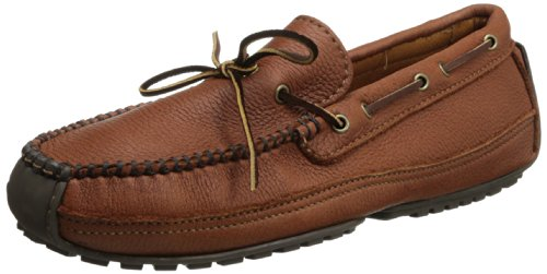 (Minnetonka Men's 758x Moosehide Weekend Moc Mocassins, Brown (Carmel), 15 D(M))