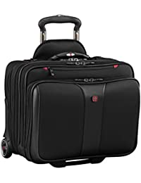 Luggage Patriot II 2 Pc Wheeled Laptop Bag With Removable Slimcase, Black, 15.6-inch