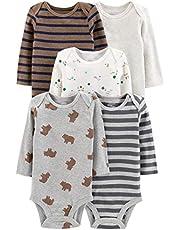 Simple Joys by Carter's Baby-Boys 5-Pack Long-Sleeve Bodysuit