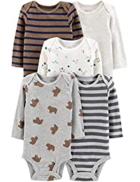 Baby Boys' 5-Pack Long-Sleeve Bodysuit