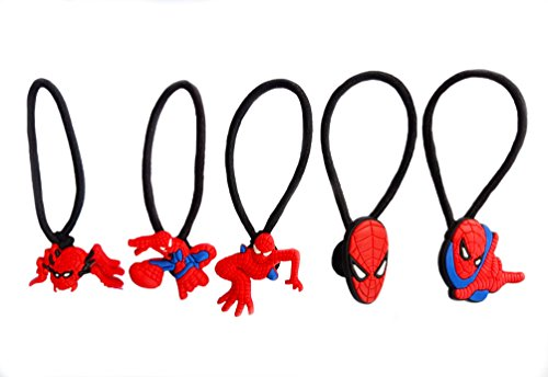 Shocker Spider Man Costume (AVIRGO 5 pcs Elastic Hair Bands Hairband Hairbands Ponytail Holders Set # 121 - 5)