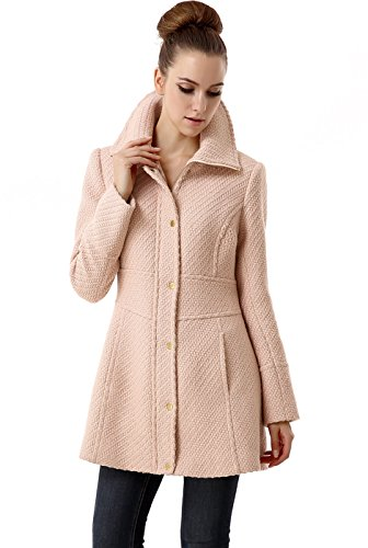 BGSD Women's 'Lorelei' Wool Blend Boucle Walking Coat – S