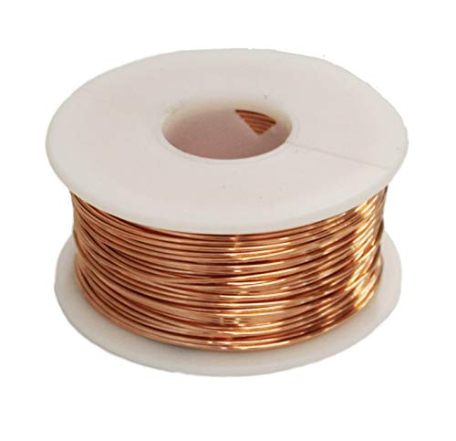Solid Bare Copper Round Wire 1/2 Lb Spool (18 Ga / 100 Ft)