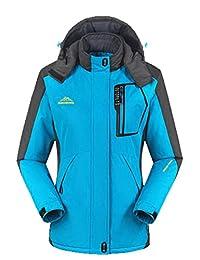 EkarLam Fleece Couple Durable Storm Breath Outdoor Warming-Up Ski Parka Jacket