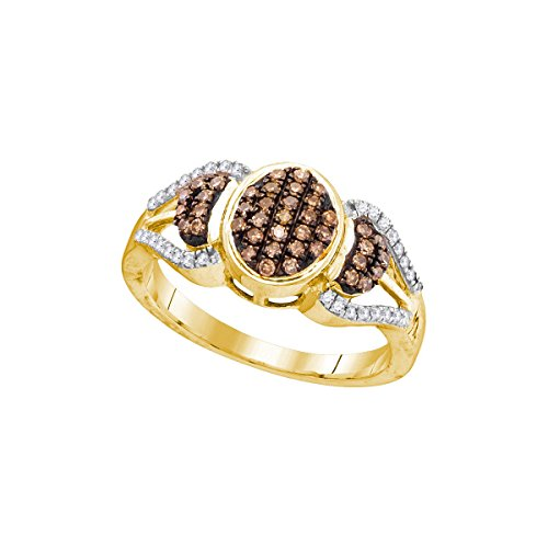 Oval Diamond Cluster Ring - 3