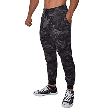 cb5e1a1c4 YoungLA French Terry Cotton Sweatpants Jogger Pants Camouflage Black X-Large