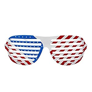 Underground Kulture USA Shutter Shades/Novelty Fun Shades American Flag