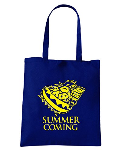 T-Shirtshock - Bolsa para la compra FUN0023 01 26 2014 Summer Is Coming T SHIRT det2 Azul Marino