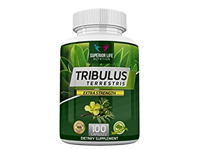 Superior Life Nutrition Tribulus Terrestris Extract 1000mg - Natural Tribulus Testosterone Booster Powder - Optimum Bulgarian Tribulus - Maximum Strength - Great For Bulk - Twice as Strong As 500mg