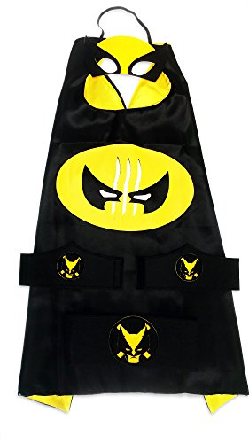 [MyTinyHeroes Children's Superhero Costume - 5 Pc Set - Marvel Comics - Wolverine] (Good Guys Halloween Costumes)
