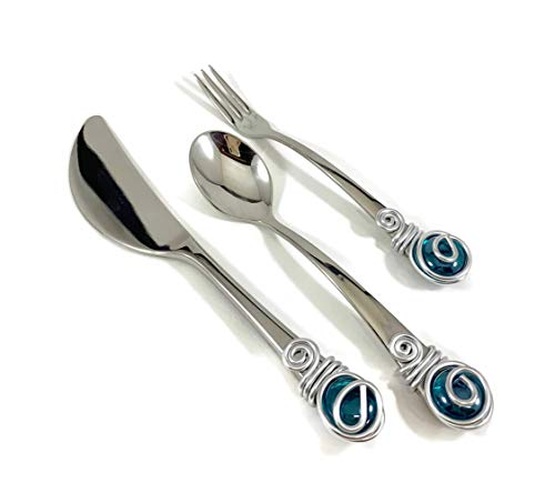 (3 Piece Appetizer Set with a Cabochon Marble)