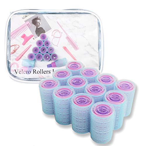 xnicx 36 Count Hair Roller Set, Large Small Medium Self Grip Hair Rollers, Hairdressing Curlers Tools for Men, Kids, Women Eco-Friendly Material RoHS Standard Rollers (36mm, 28 mm,17 mm, 36 Pieces) (Best Hair Rollers For Fine Hair)