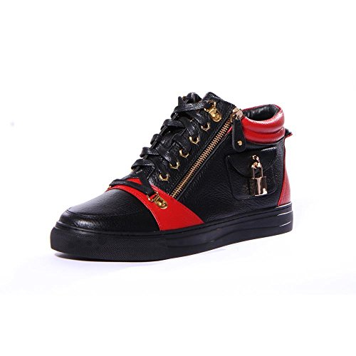 J75 by Jump Men's Zappa High-Top Fashion Sneaker Red Black 9.5 D US by Jump
