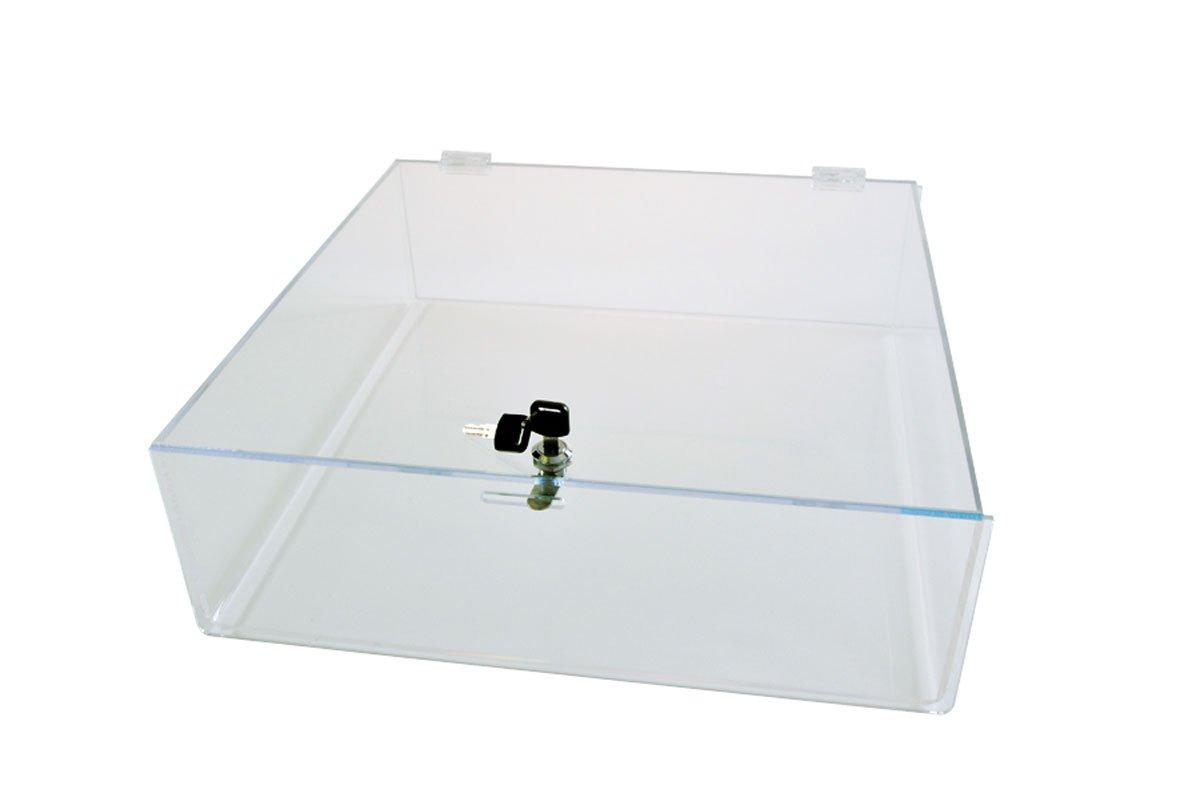 Acrylic Countertop Locking Tray 18''x18''x4'' - LCT6 by Choice Acrylic Displays
