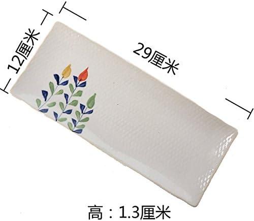 YUWANW Platos Cuadrados Azules Pintados A Mano Retro Japonés Canción Horno De Cerámica Placa Plana De