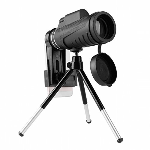 PLLP Monocular Telescope High Power Hd Outdoor Night Vision Can Be Mobile Phone Video Camera Telescope,Black by PLLP