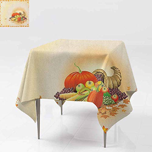 AndyTours Spill-Proof Table Cover,Harvest,Maple Tree Frame with Rustic
