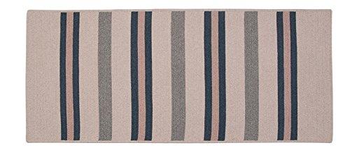 (Colonial Mills Allure Rectangular 2' x 4' Braided Modern Area Rug In Blue Stripes)