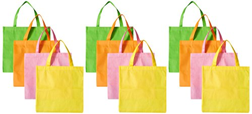 Large Neon Tote Assorted Colors