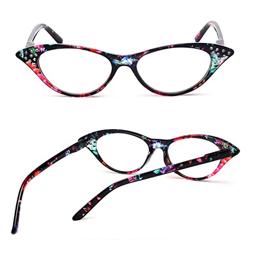 montura 1 PC 4 Fashion de Lergo 0 de mujer lectura ojo 0 Gafas de Amarillo para gato gpPwx7qzP