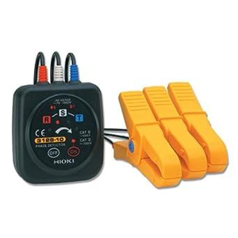 Hioki 3129 - 10 grandes Clip Non-metal Contacto Detector De Fase, 1000 V AC voltaje, 45 A 60 hz frecuencia: Amazon.es: Amazon.es