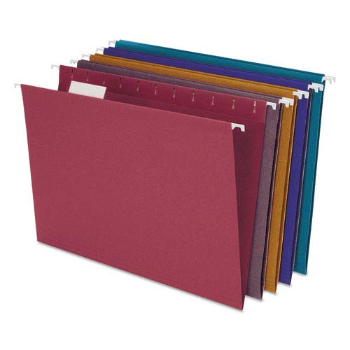 Ampad - Envirotec 100% Recycled Colored Hanging File Folders, Letter, Assorted, 20/Box - Pack of 6