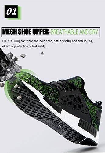 Waterproof Puncture Proof Safety Unisex Footwear Summer Mesh Anti-pierce Building Site Worker Security Boots by AiKim (Image #1)