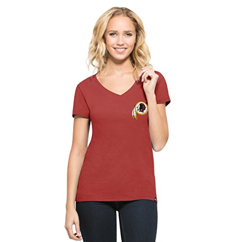 NFL Washington Redskins Women's '47 Clutch MVP V-Neck Tee, Cardinal, Medium