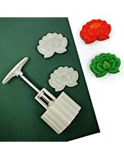 Cookie Stamp Moon Cake Mold Stamps, Cookie Press Mid Autumn Festival DIY Decoration Press Cookie Cutter Mold Round Cookie Biscuit Cutter Set Fondant Cake Decoration