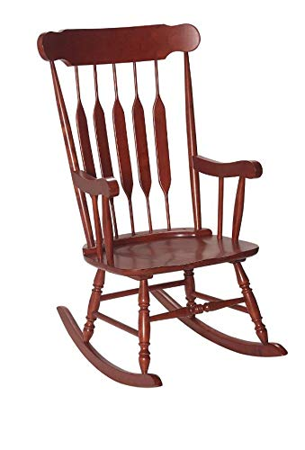 - Gift Mark 1233-3800C Giftmark Adult Rocking Chair - Cherry,