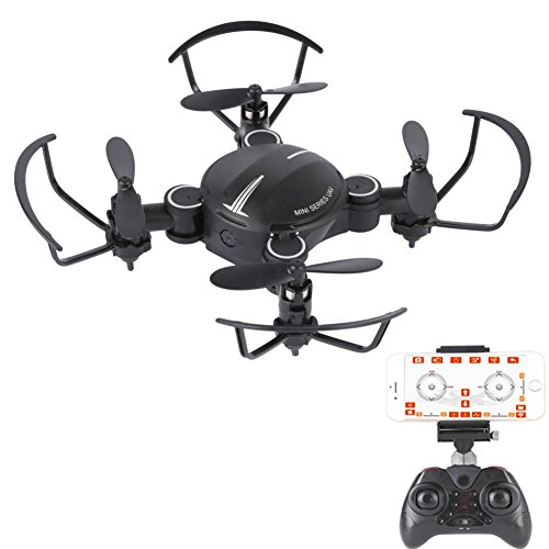 ESHOWEE Mini Drone X16 Wi-Fi FPV Drone w/HD Camera, Altitude Hold & 1-Key Takeoff/Landing VR Headset-Compatible 4 Channel 2.4GHz 6-Gyro Drone w/Customizable