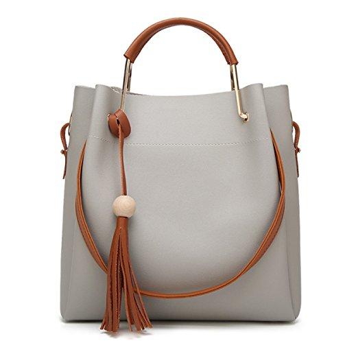 Per Zaino A Frange Tracolla Portatile Fashion brown Haoxiaozi Borsa Gray Con ZBqa4nxw