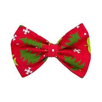 Amazon.com : Christmas Tree Dog and Cat Bow Tie (Small) : Pet Supplies