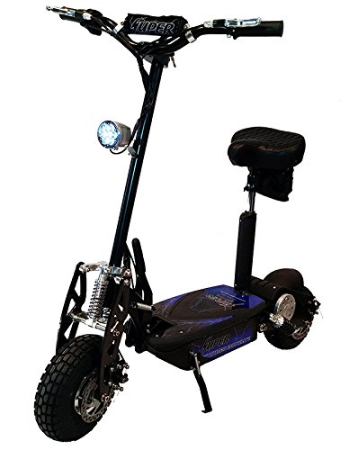 Black Super Turbo 1000W Elite 36v Electric Scooter with Turbo Mode Button