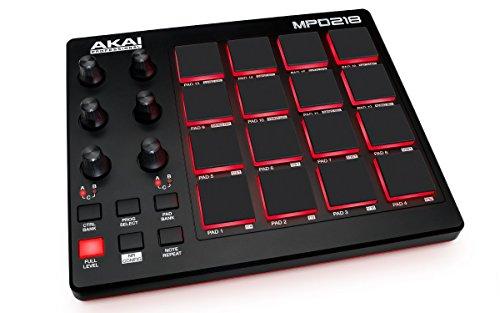 [해외] Akai Professional USB MIDI콘트롤러 16패드 음원 소프트 부속 MPD218