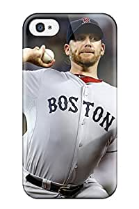 Durable Case For The Iphone 4/4s- Eco-friendly Retail Packaging(boston Red Sox )