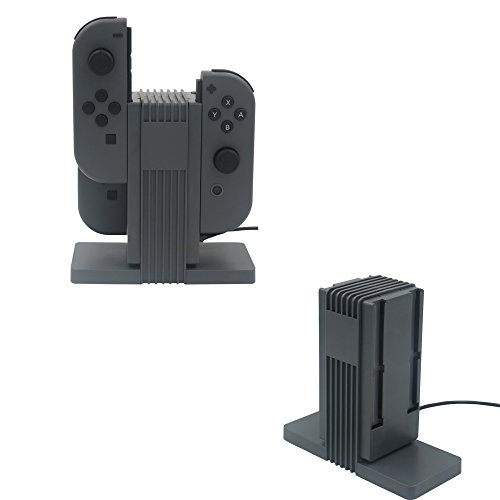 NEXiLUX NXL-95177 Joy-Con Quad Charging dock for Nintendo Switch with Type C Cable (Quad Charge Station)