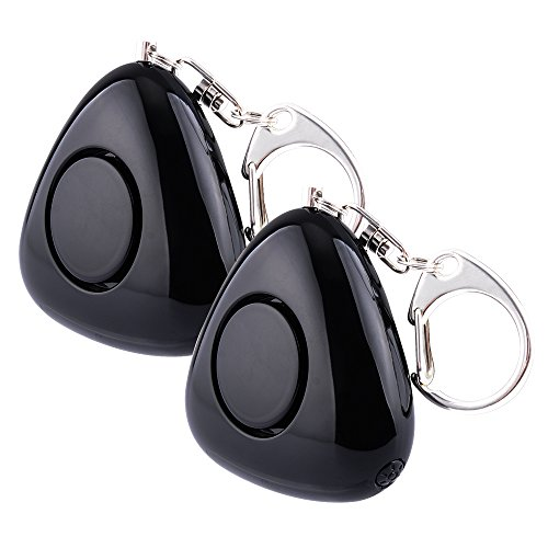 Lermende 2Pcs Personal Alarm 120 Db Emergency Sos Keychain Security Alarms With Led Flashlight Self Defense Safety Protection