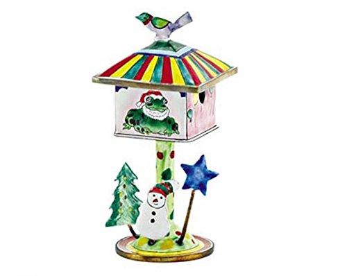 Kelvin Chen Enameled Miniature Birdhouse Trinket Box - Christmas Frog