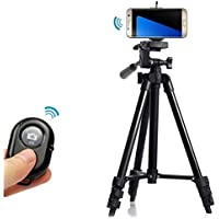 Professional Tripod Mount Holder+Bluetooth Camera Remote Shutter for Samsung Galaxy S7,S7 edge-Black