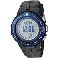 Casio Men's Pro Trek Stainless Steel Quartz Watch with Resin Strap (Black)