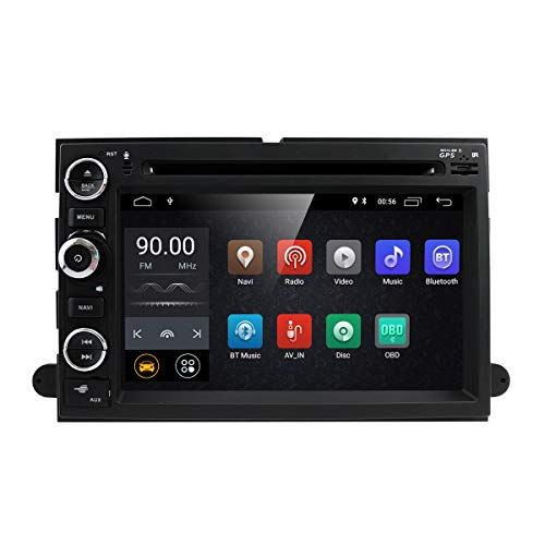 Android 8.1 2GB RAM Fit f or Ford F150 F250/350/Edge/Fusion/Mustang in Dash DVD Player GPS Navigation Stereo Radio BT Steering Wheel Ctrl WiFi Support 4G DVR TV DAB+TPMS (Best Dab Car Radio)